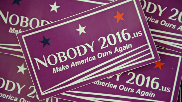 "Disillusioned by the choice of candidates in the presidential election, Colorado State University student Matthew Nagashima and friends created the ""Nobody 2016"" website and merchandise."