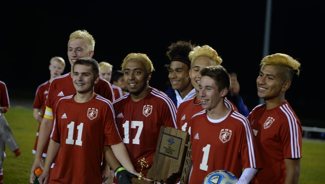 Richmond won Class 2A sectional championships in both boys and girls soccer last fall. Soccer will have three classes starting with the 2017-18 school year, and the Red Devils will move up to 3A in both.