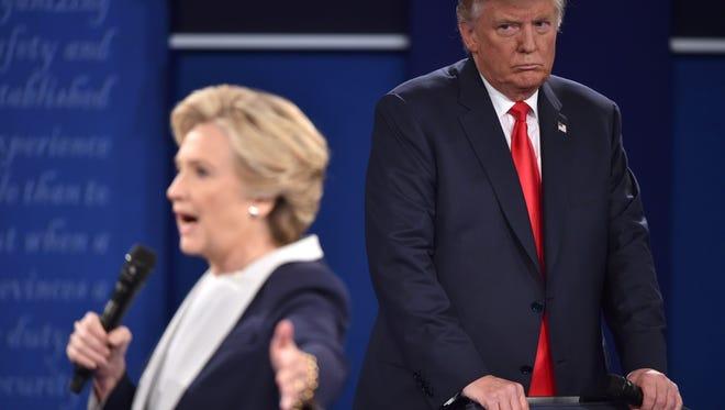 The canditates: HIllary Clinton and Donald Trump.