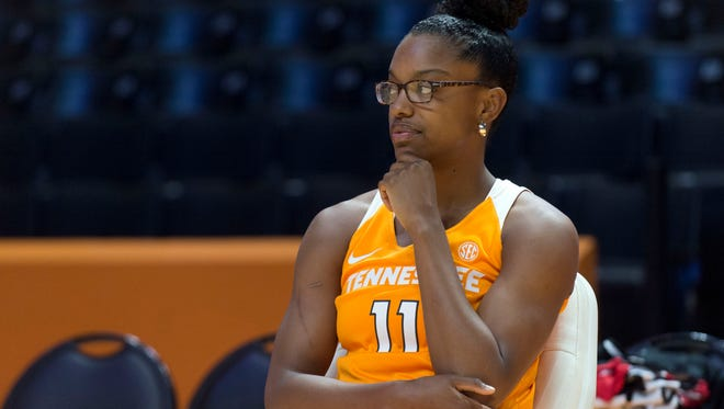 Tennessee's Diamond DeShields at Media Day on Thursday, October 27, 2016.