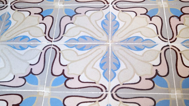 Annie Ireland of Prairie Village, Mo., had an antique encaustic tile, circa 1870-1900, from Belgium installed on her kitchen floor.