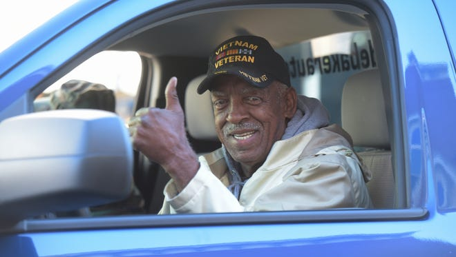 Veterans are honored Saturday, Nov. 5, 2016 with a parade through downtown Richmond.