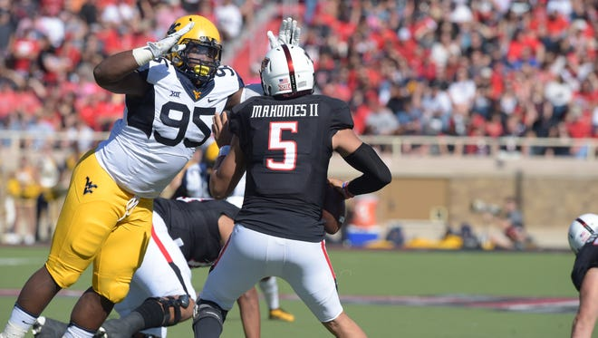 West Virginia University defensive lineman Christian Brown, a Fort Myers native, had six tackles, a pass breakup and a blocked field goal in a win over Texas on Nov. 12