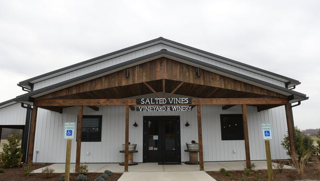 Salted Vines winery in Frankford, Delaware.