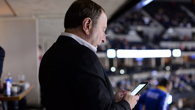 Gary Bettman was not optimistic speaking about the Olympics Thursday.
