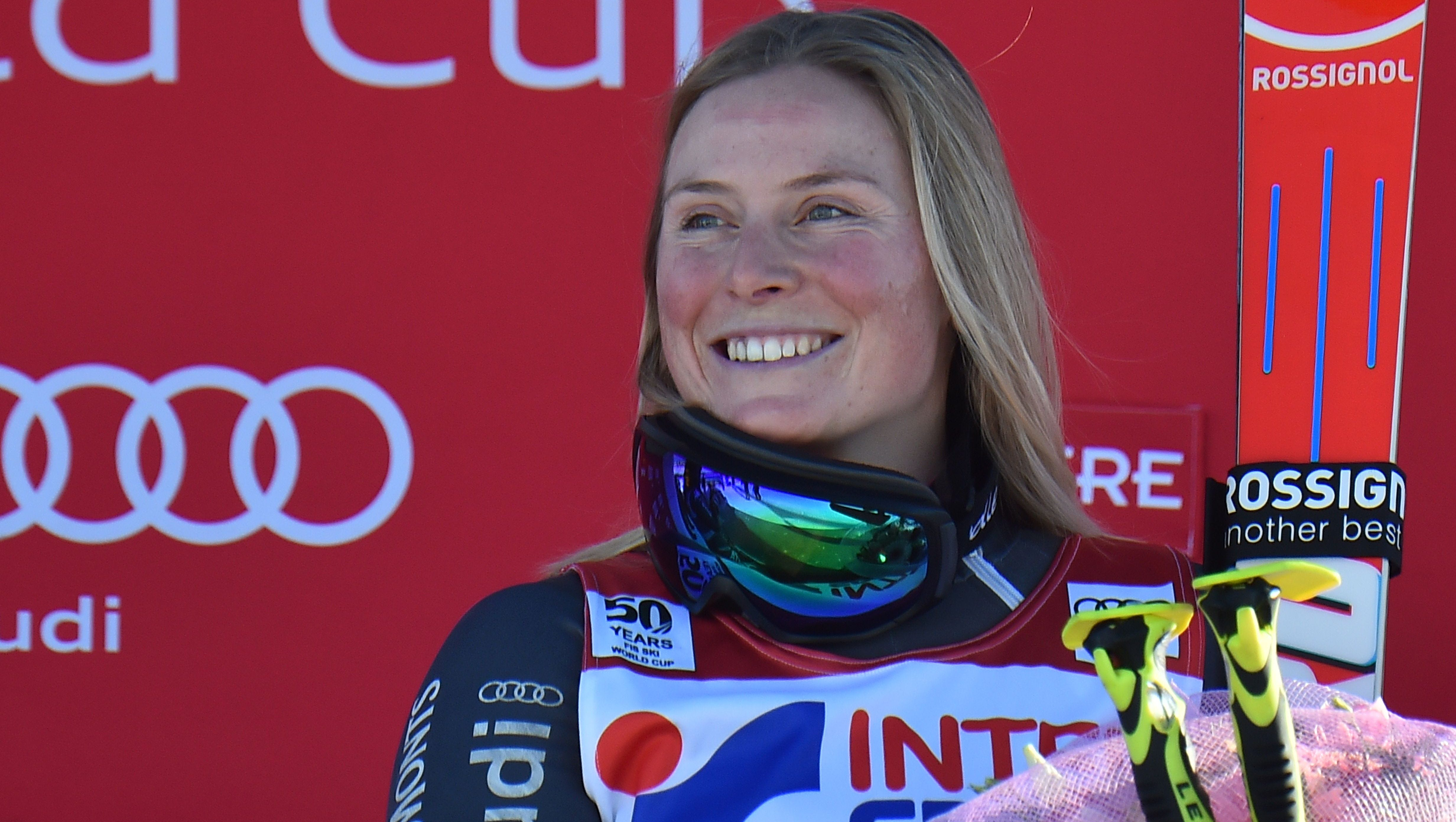 France S Tessa Worley Wins 2nd Straight Giant Slalom As Shiffrin Loses Lead