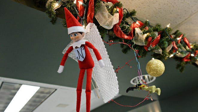 An Elf on the Shelf is part of the holiday decor on the neuro unit at Poudre Valley Hospital on Wednesday, December 21, 2016.