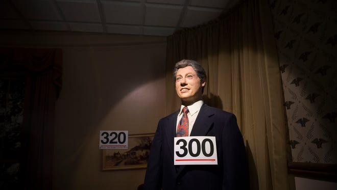 A wax figure of former President Bill Clinton is one of hundreds of presidential themed memorabilia to be sold at auction at the Hall of Presidents and First Ladies Museum in Gettysburg, Pa.