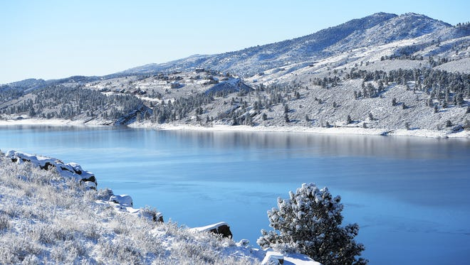 Scenes from Horsetooth Reservoir on Friday, January 6, 2017. An accumulated eight inches of snow turned Horsetooth Reservoir into a winter wonderland.