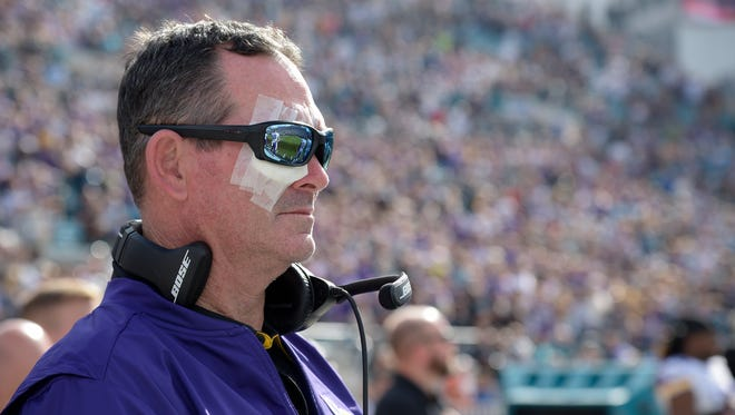 Even coach Mike Zimmer couldn't avoid the injury plague that hit the Vikings