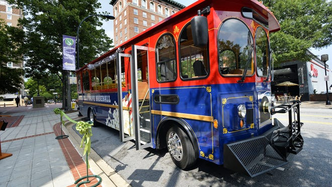 Greenville's free trolley system will be running during the SEC Women's and NCAA Men's basketball tournaments in March.