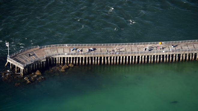 An aerial view of the North Jetty of the Sebastian Inlet seen July 26, 2016.
