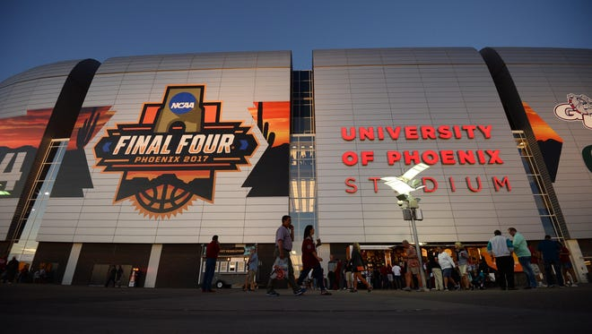 The 2017 NCAA Final Four at University of Phoenix Stadium.