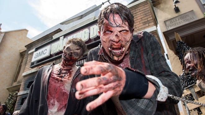 "It won't be as life or death as TV's ""The Walking Dead,"" but the walkers will be realistic and on loose for Zombie Apocalypse Live May 26-27 at Terror on the Fox."