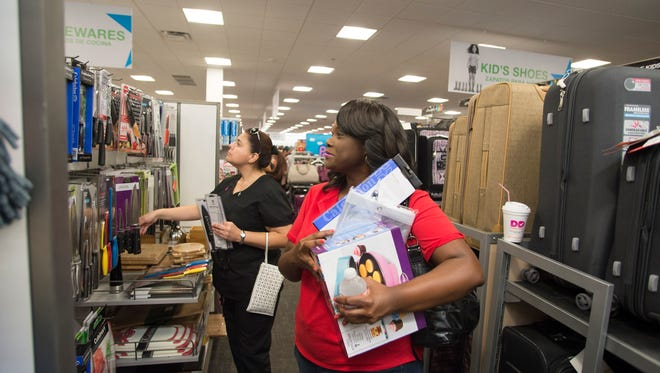 Shoppers at the grand opening celebration for Macy's Backstage at The Rim last September in San Antonio, Texas.