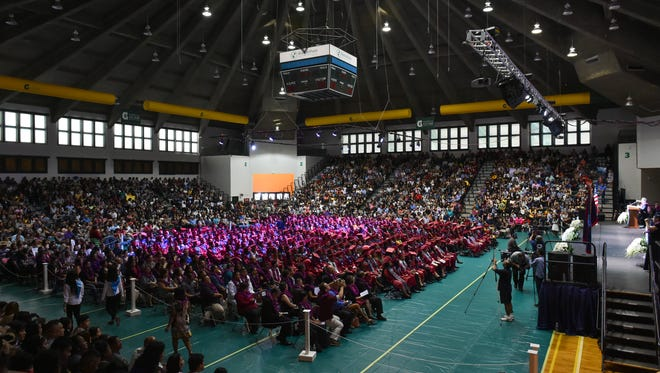 Thosands attended the Okkodo High School MMXVII Commencement Exercise at the University of Guam Calvo Field House on June 4, 2017.