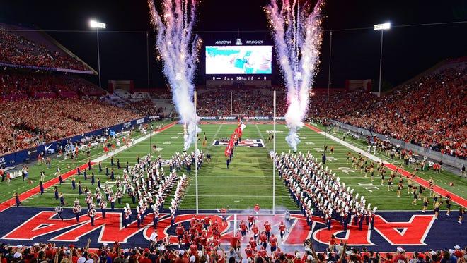 A general view of Arizona Stadium in Tucson.