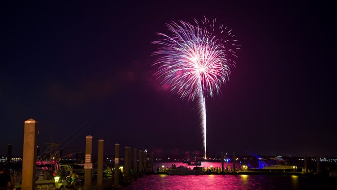 The city of Stuart's Fourth of July fireworks show is a popular way to celebrate the holiday.