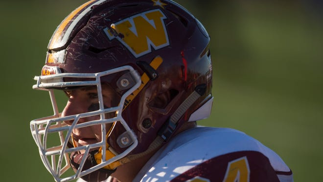 Windsor High School lineman Zach Watt, shown during a 2016 state playoff game, said Monday he plans to play college football at Wyoming.