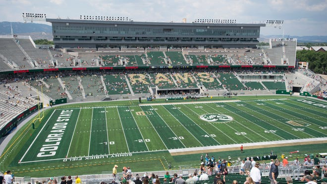 Fans got their first look at CSU's new on-campus stadium during an open house and scrimmage Aug. 5. The first game at the new stadium is scheduled for 12:30 p.m. Aug. 26 against Oregon State.