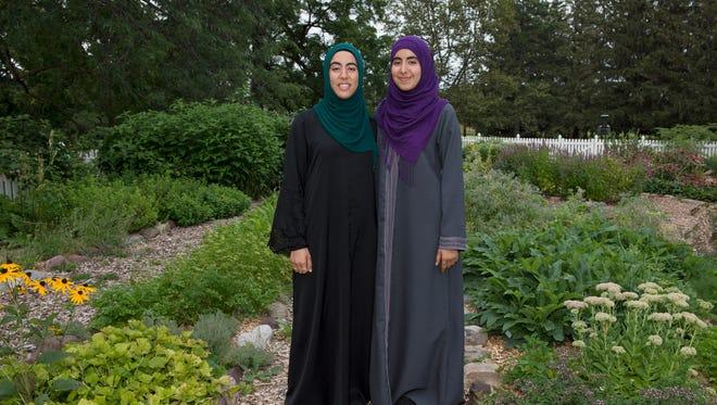 Zayneb (left) and Nasreen (right) Jaff
