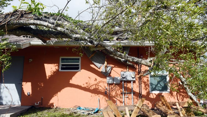 A residence for homeless veterans, run by the Vietnam Veterans of Indian River County, was damaged as Hurricane Irma made its way across the Treasure Coast. No one was injured during the storm.