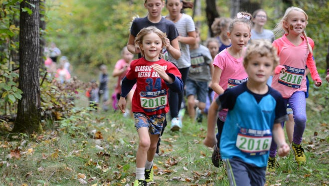 Children 9 and younger have their own Kids Dash during the Birkie Trail Run Festival.