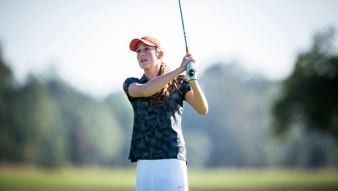 Oregon State freshman Ellie Slama was victorious in her third collegiate golf tournament.