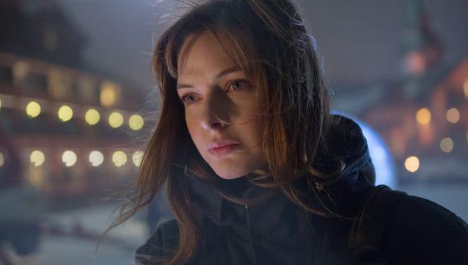 "Katrine Bratt (Rebecca Ferguson) is a newbie detective in ""The Snowman."""
