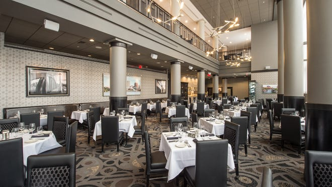 Morton's The Steakhouse in in the Hyatt downtown has a swanky interior.