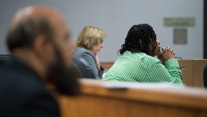 Lanadieal Ashe attended her resentencing hearing Monday, Dec. 18, 2017 at the St. Lucie County Courthouse in Fort Pierce. As a minor, Ashe was convicted and sentenced to life in prison for the 1995 murder of convenience store owner Tariq Hussein, but due to new U.S. Supreme Court rulings, she is allowed a new sentence.