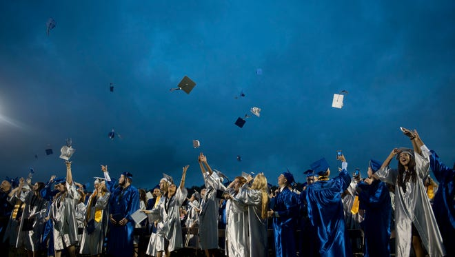 About 450 graduates were honored Friday, May 19 during the 2017 commencement ceremony at Sebastian River High School.