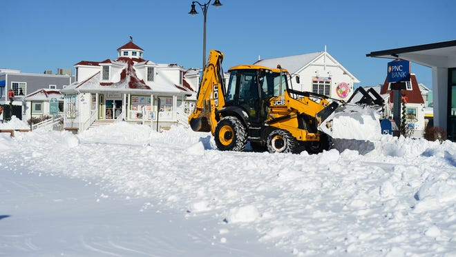 The streets of Bethany Beach get plowed on Friday, Jan. 5, 2018 after the blizzard.