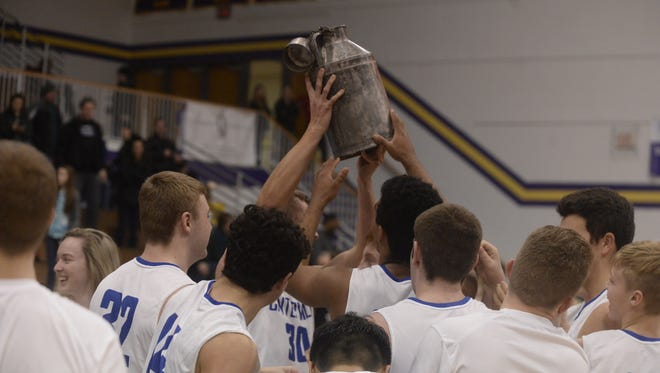 Centerville's boys defeated Northeastern 45-42, and Lincoln's girls defeated Northeastern 45-43, in their respective championship games of the Wayne County tournament Saturday, Jan. 7, 2018, at Hagerstown High School.
