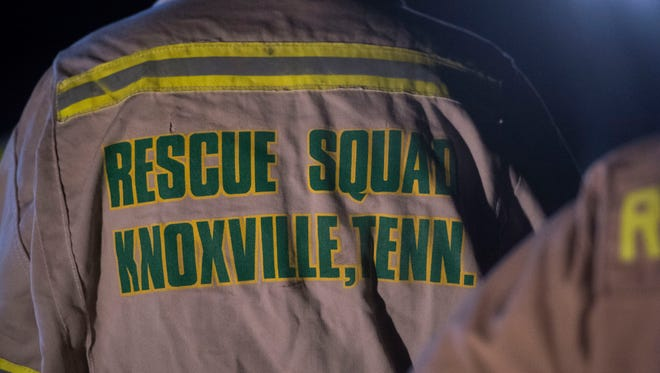 The Knoxville Volunteer Emergency Rescue Squad, pictured in this file photo, is working to remove two dogs from a sinkhole in Union County.