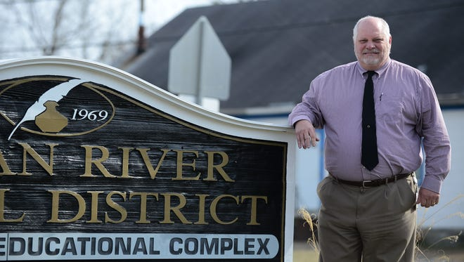 Mark Steele, Indian River superintendent, poses for a photo on Friday, Feb. 9, 2018 outside the Indian River School District office.