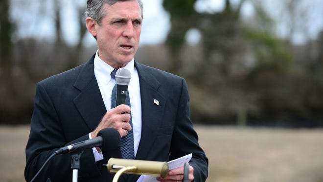 Gov. John Carney speaks at a public event earlier this week.