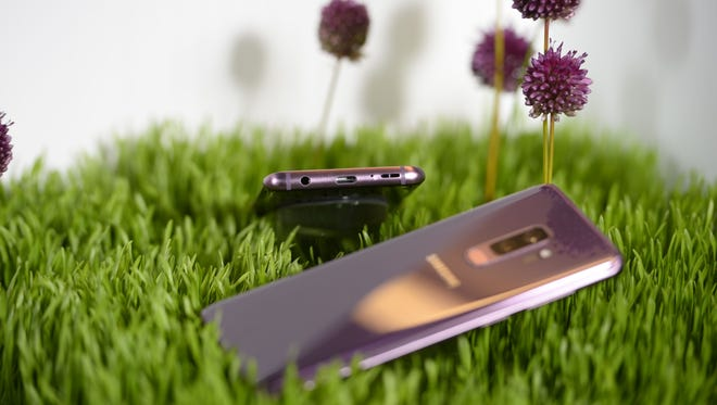 Samsung Galaxy S9 comes in three colors in the U.S. This one is lilac purple.