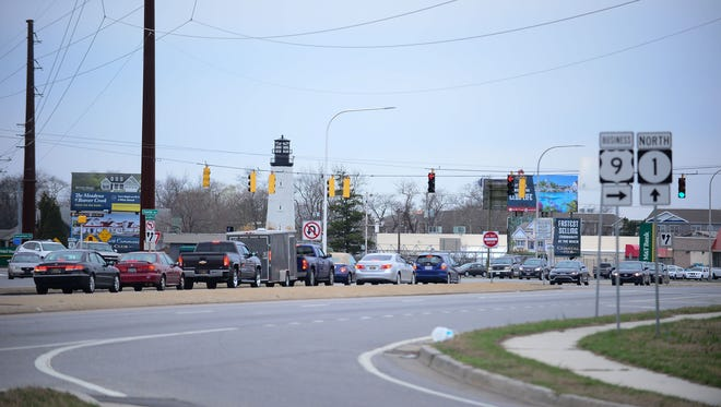 Five Points intersection located at Coastal Highway and Savannah Rd., Deldot is under going meetings on how to improve the intersection. Monday, Feb. 26, 2018.