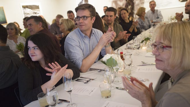 Hungry guests wait to be served during a Secret Supper hosted by the Coloradoan at the Downtown Artery on Tuesday, September 26, 2017. Mexican dishes from Los Tarascos and La Buena Vida were served.