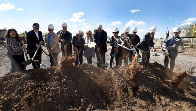 Groundbreaking ceremony for the new art building and gallery of New Mexico State University's College of Arts and Sciences.