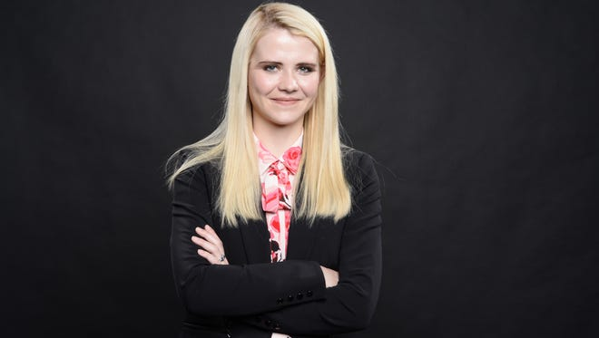 """Elizabeth Smart in New York on March 27, 2018. Her new book is called """"Where There's Hope."""""""