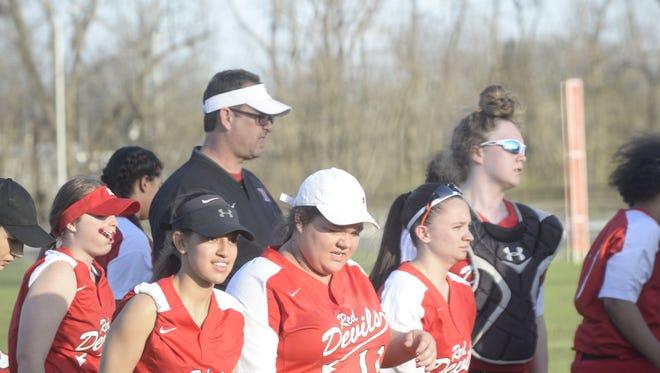 The Richmond High School softball team defeated Connersville 3-1 Thursday, April 12, 2018.