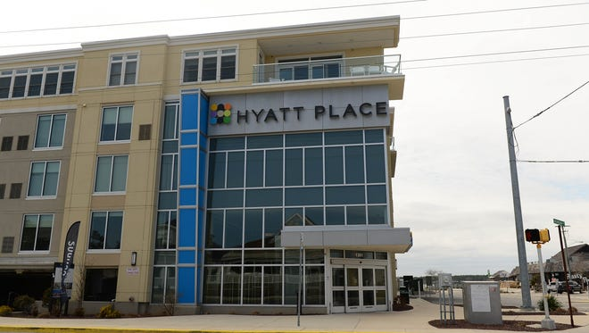 The Hyatt Place, built in 2013, resides on the Rehoboth Bay in Dewey Beach.