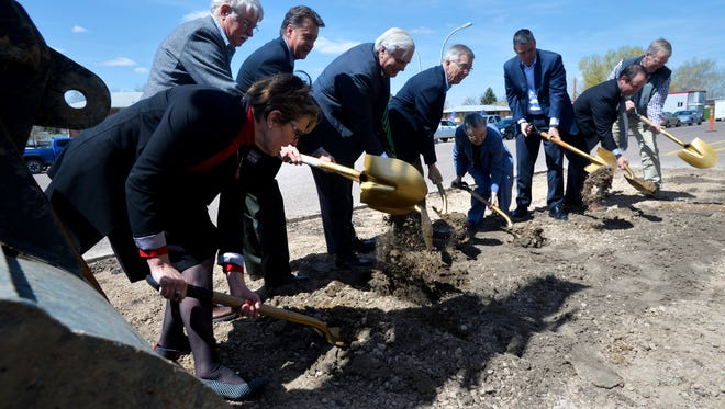 University of Providence held a ground breaking on Thursday afternoon for their new building, the University Center.