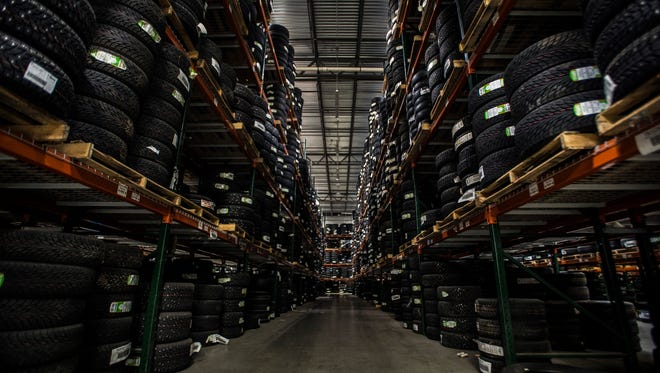 The Nokian storage facility in Colchester houses thousands of tires. The company recently announced it is leaving Vermont and building a factory in Tennessee.