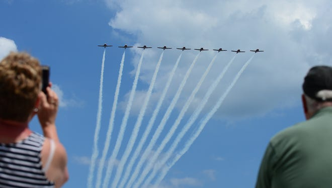 The Royal Canadian Air Force Snowbirds performed in Ocean City, Maryland on Wednesday, May 23.
