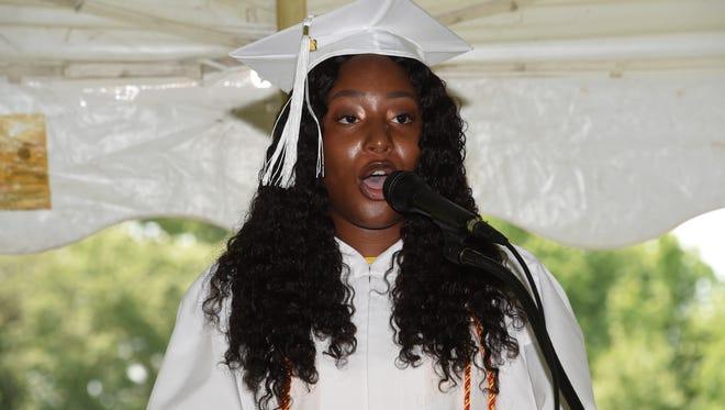 Aaliah Burney of New Brunswick, senior graduation speaker.