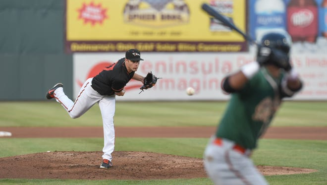Brenan Hanifee  took the loss for the Shorebirds in his final home start of the season.