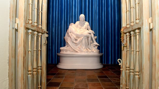 Mission San Buenaventura has received a Vatican-authorized copy of Michelangelo's Pietà. The piece will be dedicated during an unveiling service at the mission on Sunday, July 8.